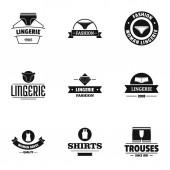 Underwear fashion logo set simple style