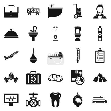 Illustration pour Faire les choses icônes ensemble. Ensemble simple de 25 faisant des choses icônes vectorielles pour le web isolé sur fond blanc - image libre de droit