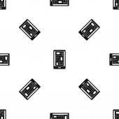Phone innards pattern seamless black