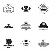 Fasten logo set simple style