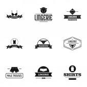 Chemise logo set simple style