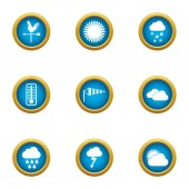 Giddy icons set flat style