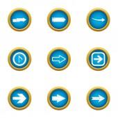 Shunter icons set flat style
