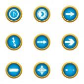 Insertion cursor icons set flat style