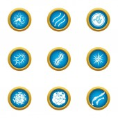 Infection icons set flat style