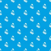 Metal balcony pattern vector seamless blue repeat for any use