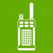 Portable handheld radio icon green