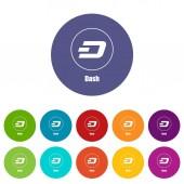 Dash icon simple style