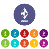Ethereum icon simple style