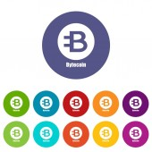 Bytecoin icon simple style