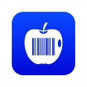 Code to represent product identification icon digital blue