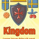 Kingdom concept banner. Cartoon banner of kingdom ...