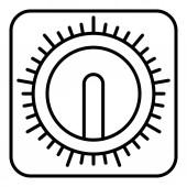 Manual retro kitchen timer icon outline style