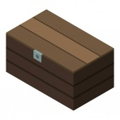 Closed dower chest icon isometric style