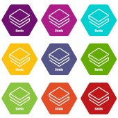 Stratis icons set 9 vector