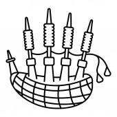 Bagpipes icon outline style