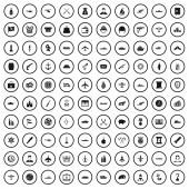100 combat vehicles icons set simple style