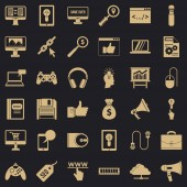 Web page icons set simple style