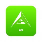 Ark icon green vector