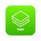 Stratis icon green vector