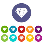 Diamond icons set vector color