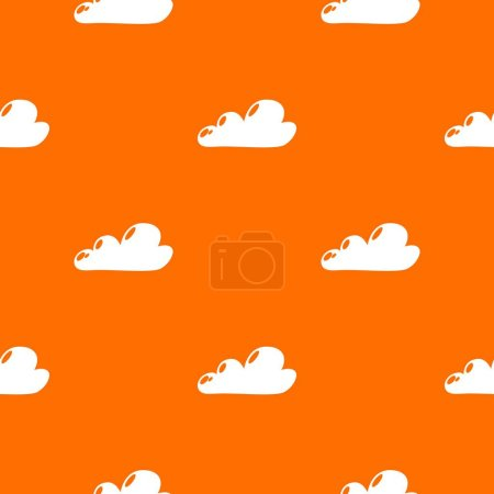 Photo for Internet cloud pattern vector orange for any web design best - Royalty Free Image