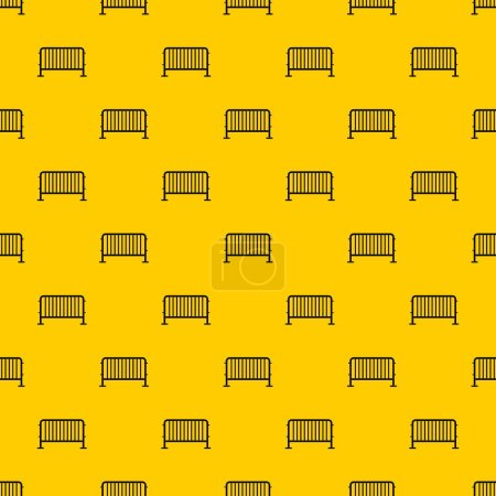 Photo for Steel barrier pattern seamless vector repeat geometric yellow for any design - Royalty Free Image