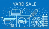 Yard sale banner outline style