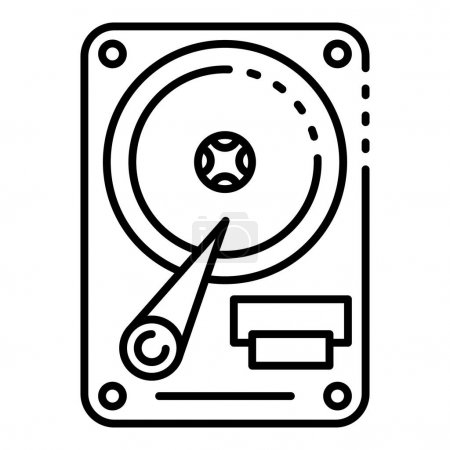 Photo for Hard disk drive icon. Outline hard disk drive vector icon for web design isolated on white background - Royalty Free Image