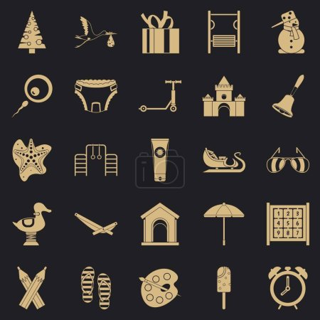 Photo for Playroom icons set. Simple set of 25 playroom vector icons for web for any design - Royalty Free Image