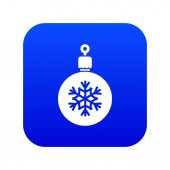 Ball for the Christmas tree icon digital blue