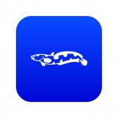 Anarhichas fish icon digital blue