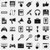 Web mobile icons set simple style
