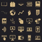 Boffin icons set simple style