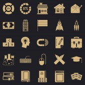Discoverer icons set simple style