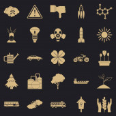 Thermal icons set simple style