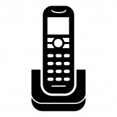 Radiophone icon simple style