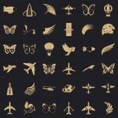 Transport icons set simle style