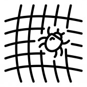 Mite on net icon outline style
