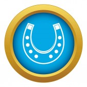 Horseshoe icon blue vector isolated