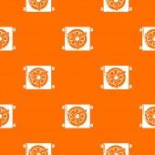 Dynamo car detail pattern vector orange