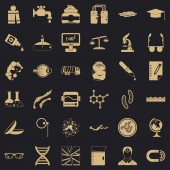 Pro technical icons set simple style