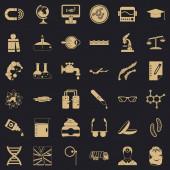 Scientific widget icons set simple style