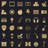 Operetta icons set simple style