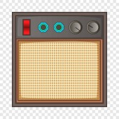 Guitar amplifier icon cartoon style