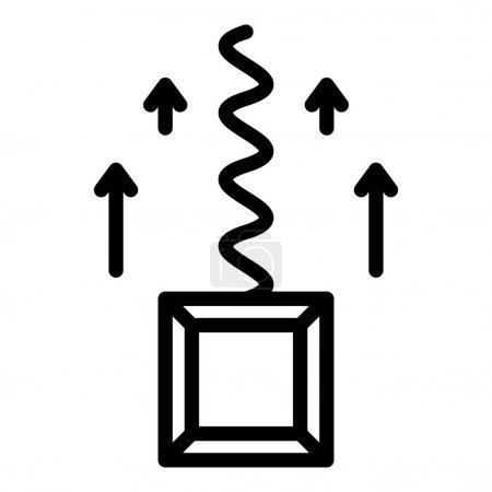 Ilustración de Icono de retorno de primavera. Icono vectorial de retorno de resorte de esquema para diseño web aislado sobre fondo blanco - Imagen libre de derechos
