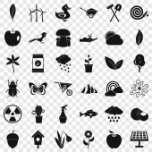 Cultivated tool icons set simple style
