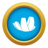 ArtScience Museum in Singapore icon blue vector isolated