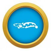 Anarhichas fish icon blue vector isolated