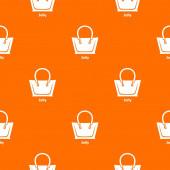 Jelly bag pattern vector orange